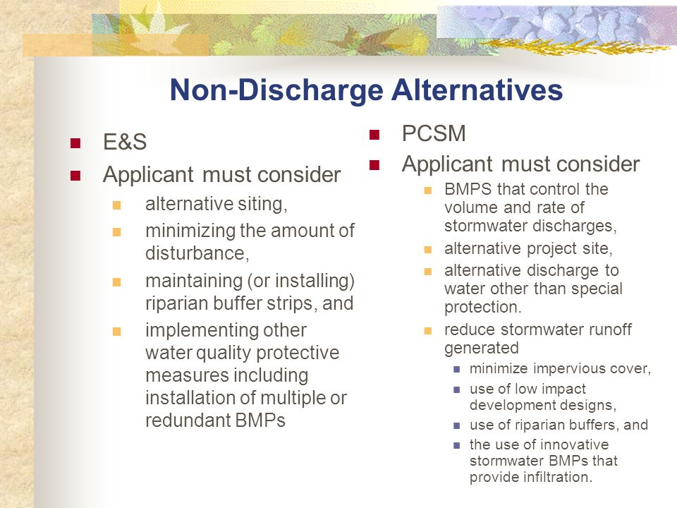 Non-Discharge Alternatives