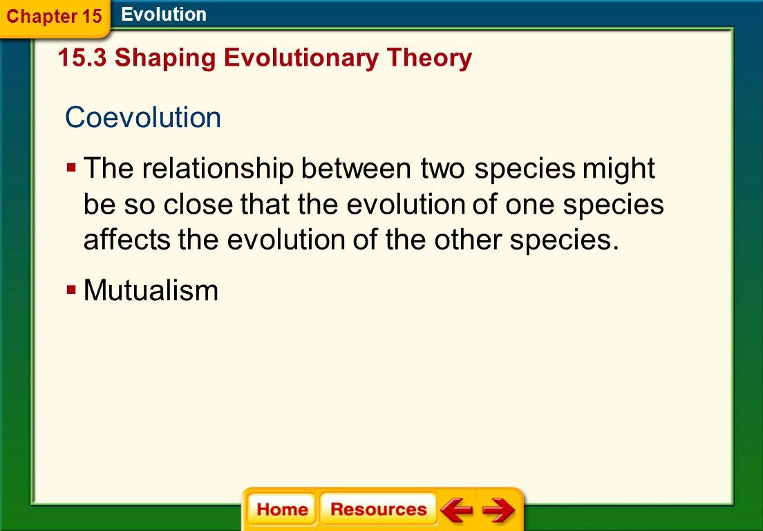 Chapter 15 Evolution. 15.3 Shaping Evolutionary Theory. Coevolution.