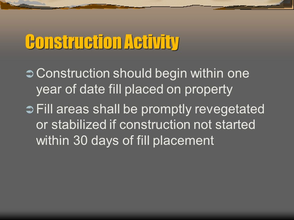 Construction Activity