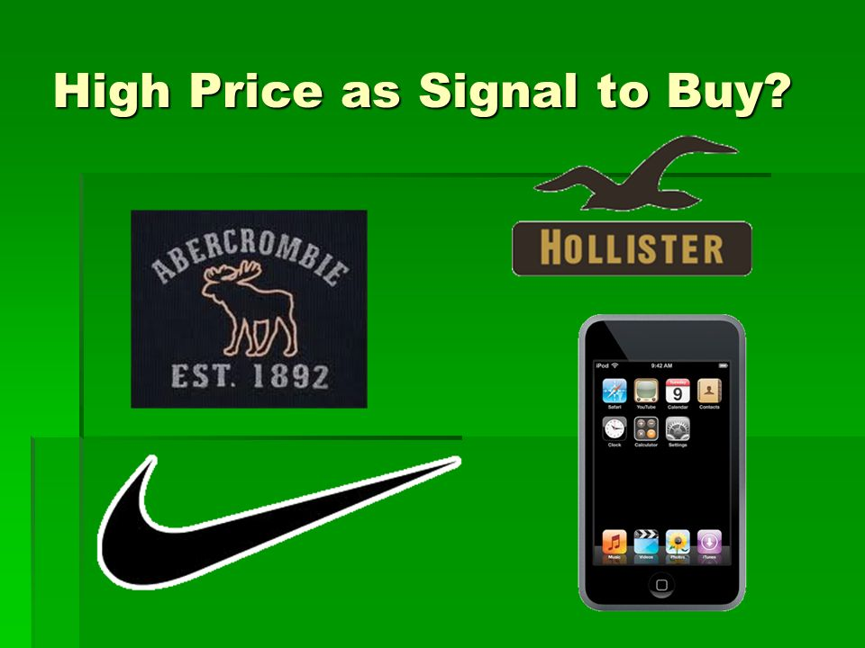 High Price as Signal to Buy