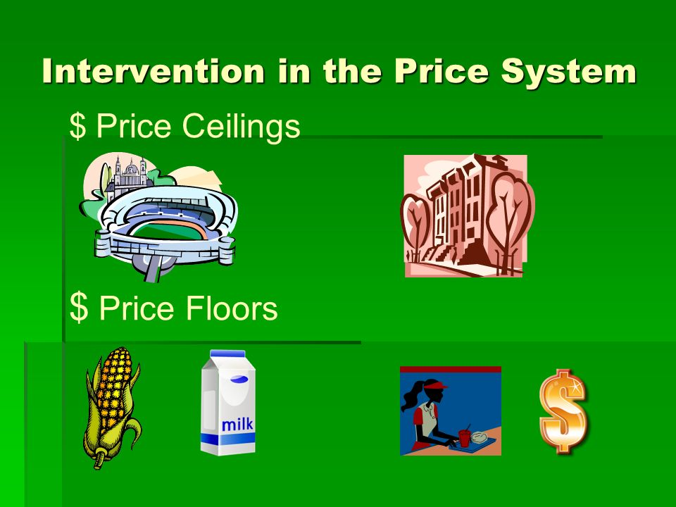 Intervention in the Price System