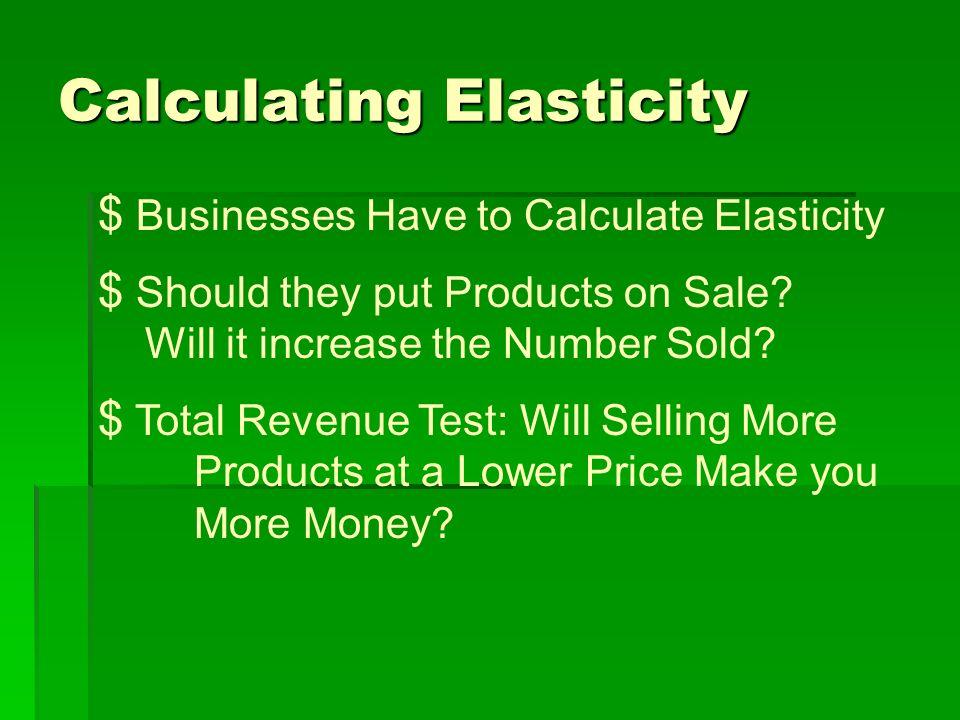 Calculating Elasticity