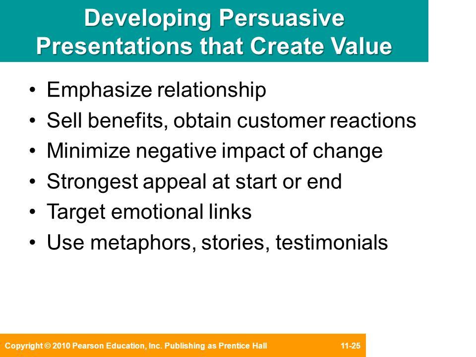 how to create persuasive business presentations