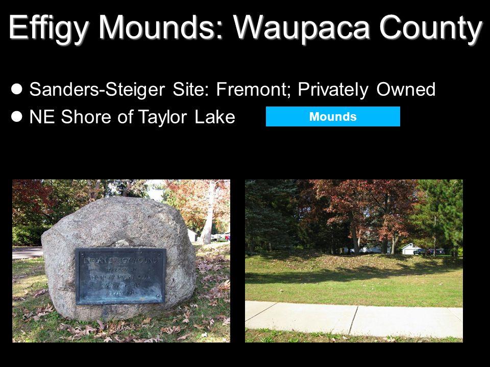Effigy Mounds: Waupaca County