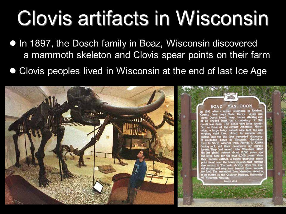 Clovis artifacts in Wisconsin