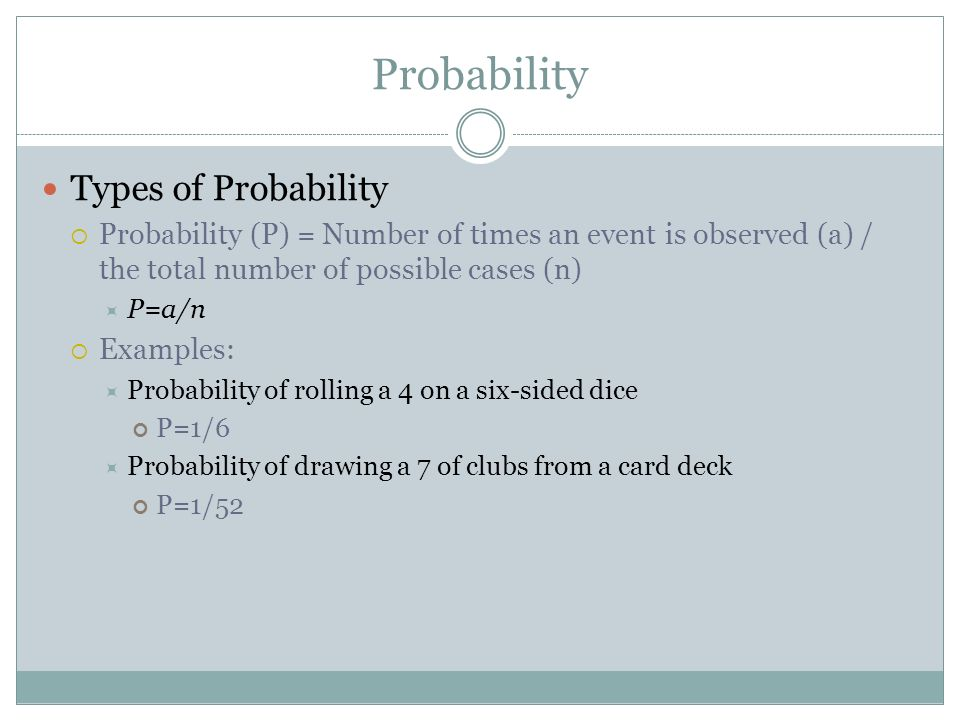 Probability Types of Probability
