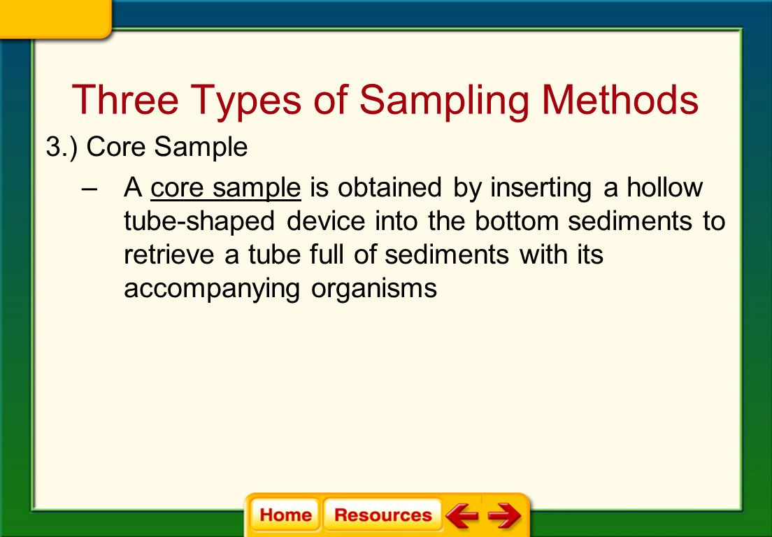Three Types of Sampling Methods