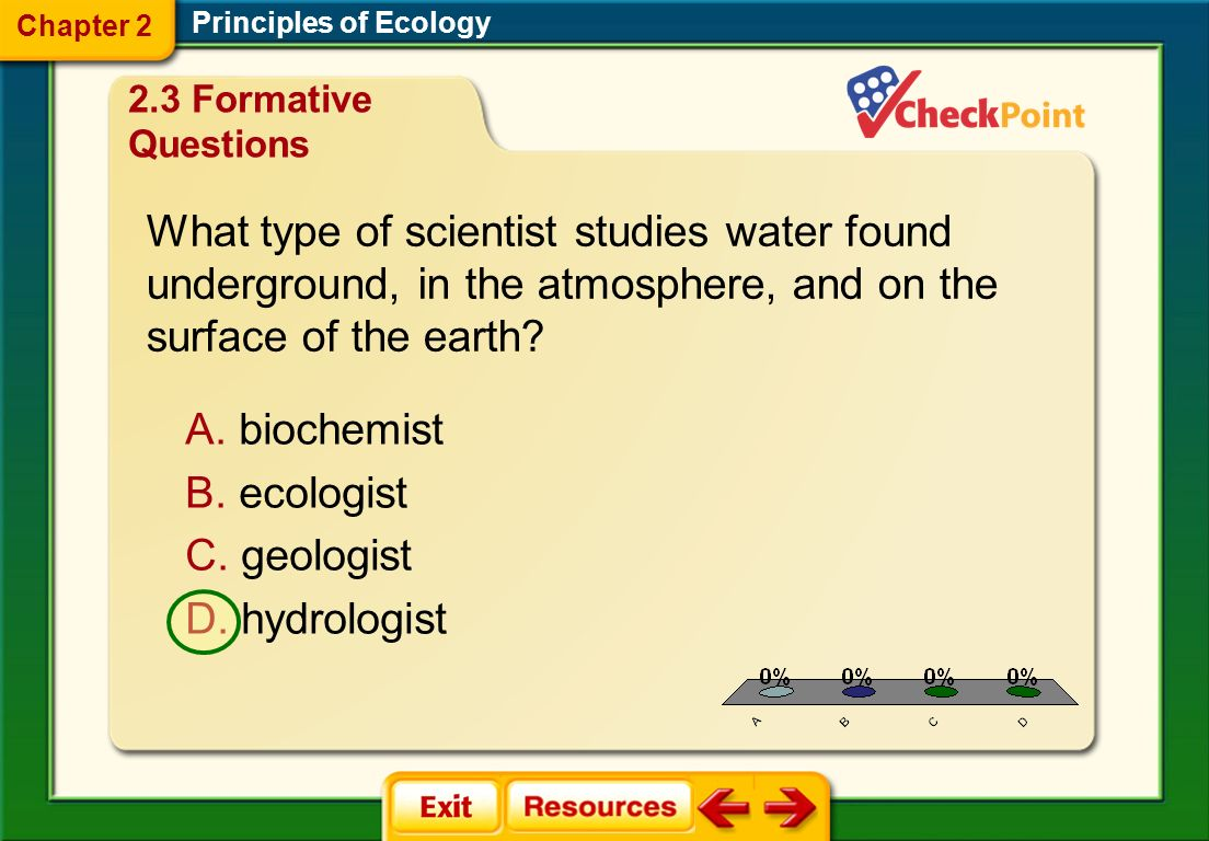 Chapter 2 Principles of Ecology. 2.3 Formative Questions.