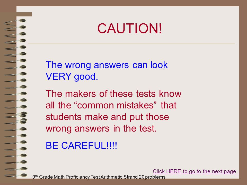 9th grade math test pdf