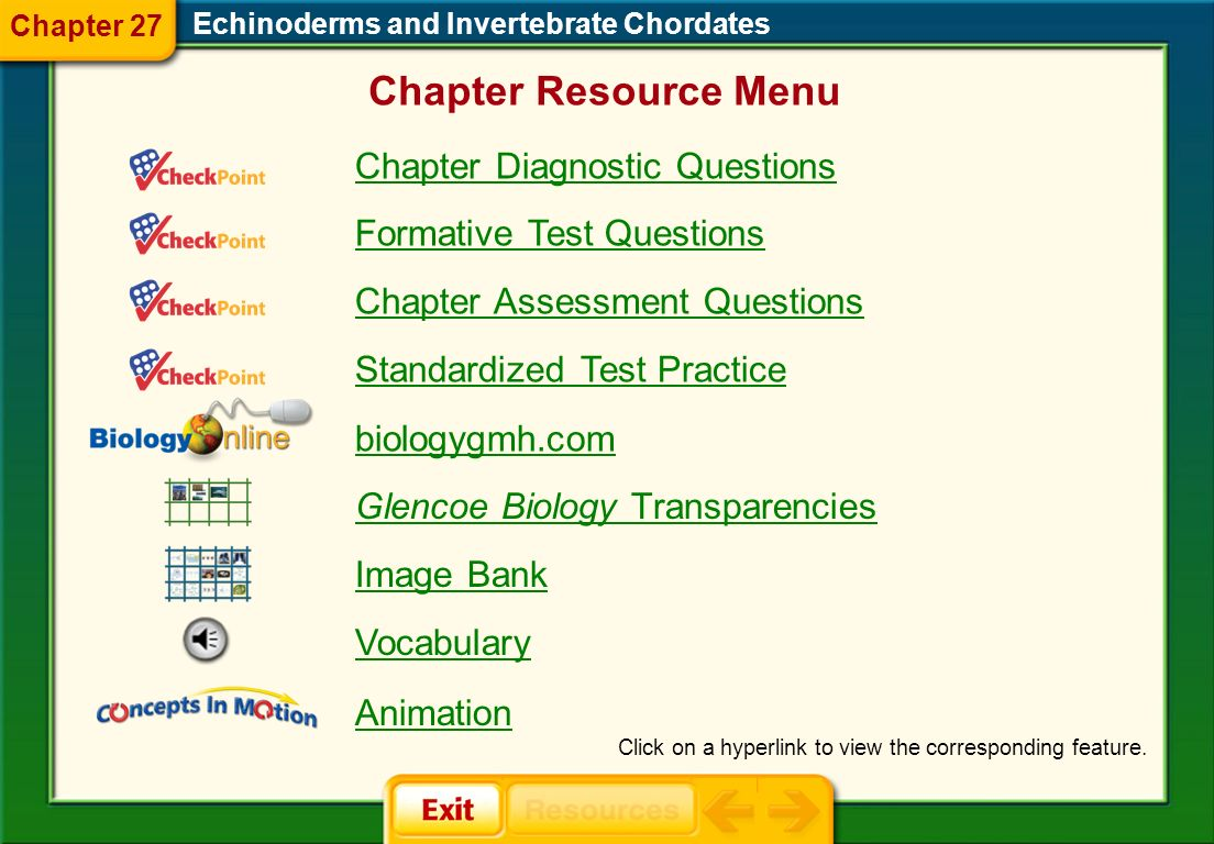 Chapter Resource Menu Chapter Diagnostic Questions