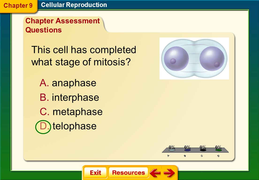 This cell has completed what stage of mitosis