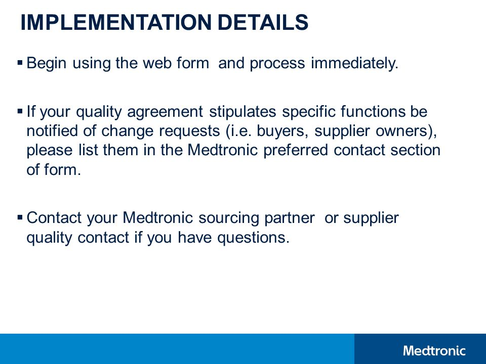 Supplier change request portal ppt download 8 implementation details platinumwayz