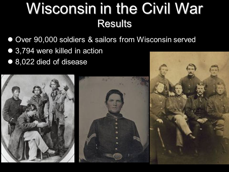 Wisconsin in the Civil War Results
