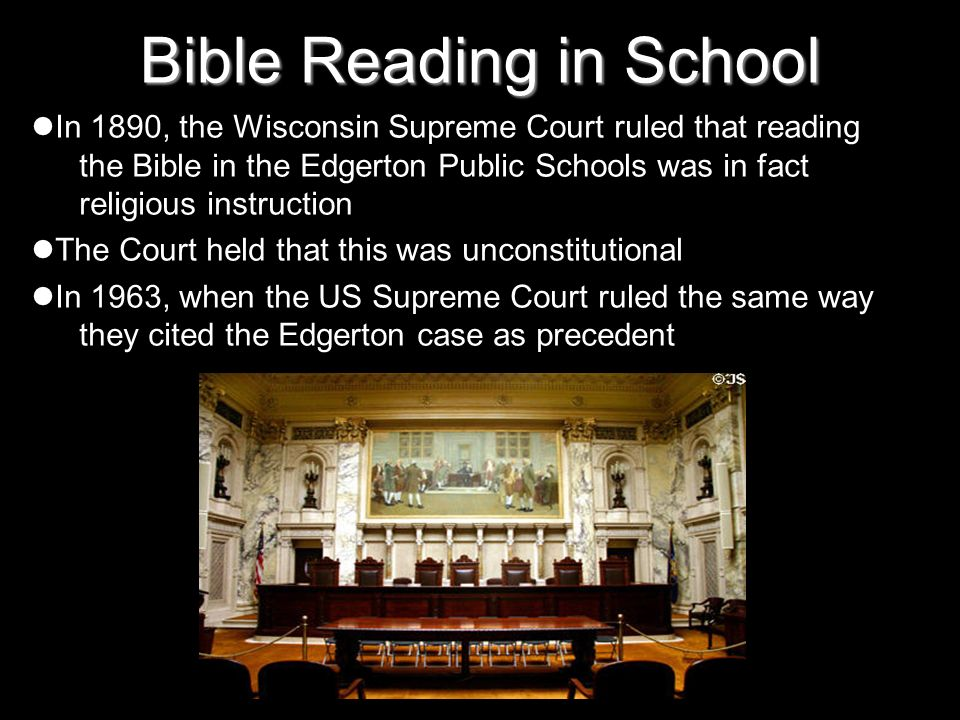 Bible Reading in School