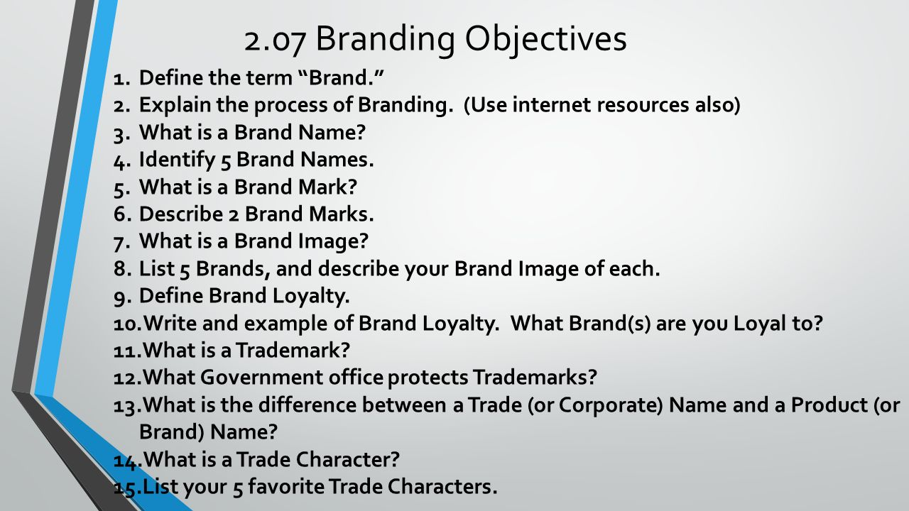 What is brand name? definition and