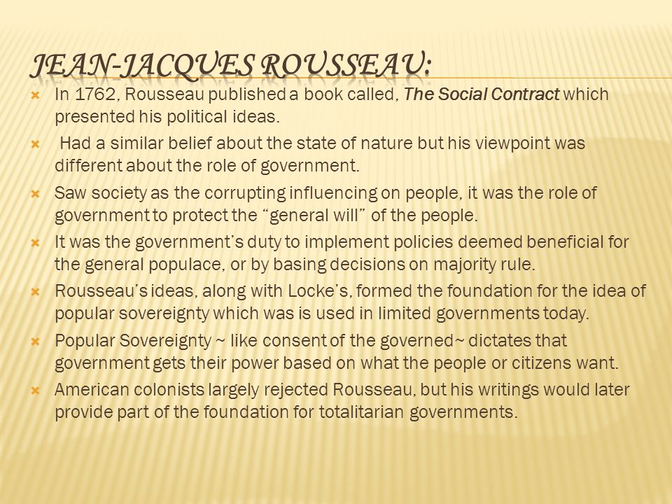 rousseau general will