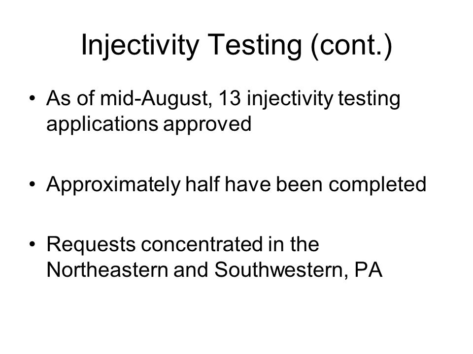 Injectivity Testing (cont.)