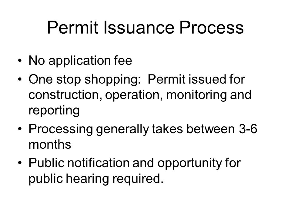 Permit Issuance Process