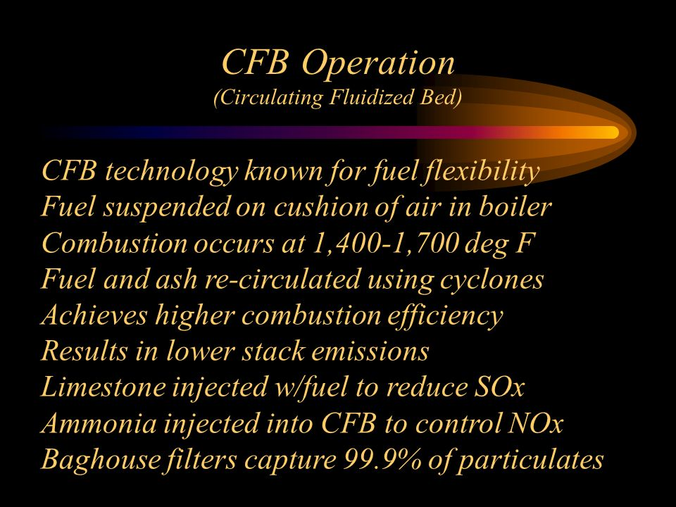CFB Operation (Circulating Fluidized Bed)