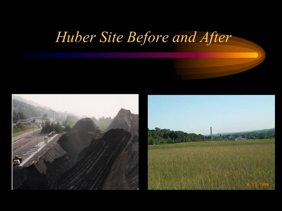 Huber Site Before and After