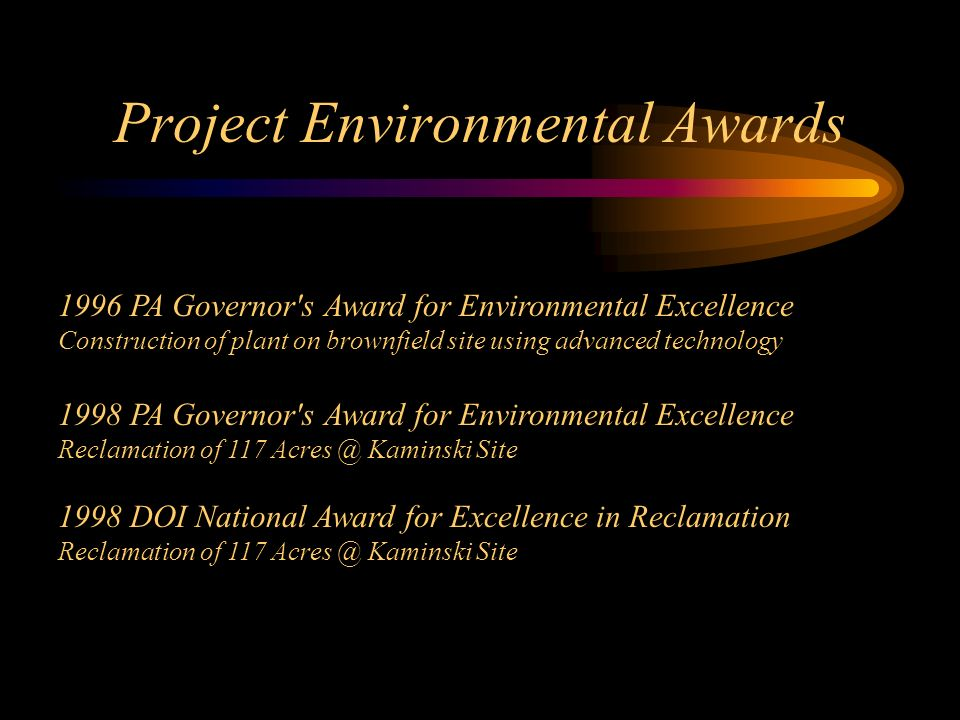 Project Environmental Awards