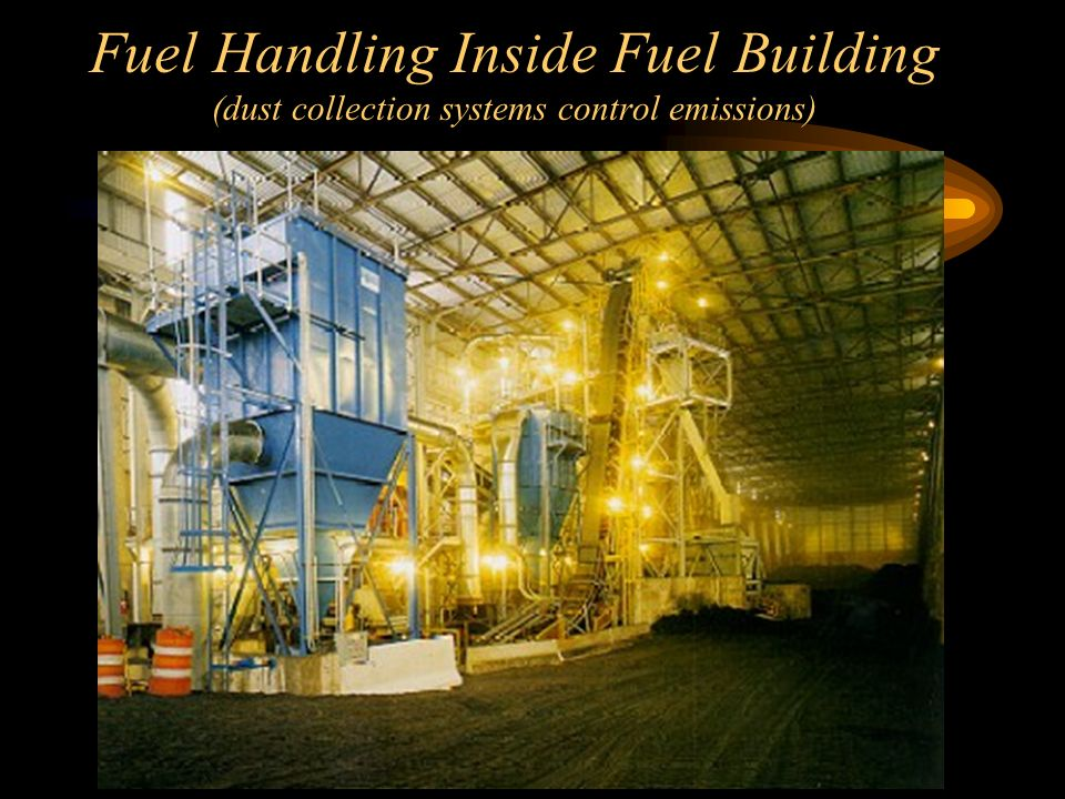 Fuel Handling Inside Fuel Building (dust collection systems control emissions)