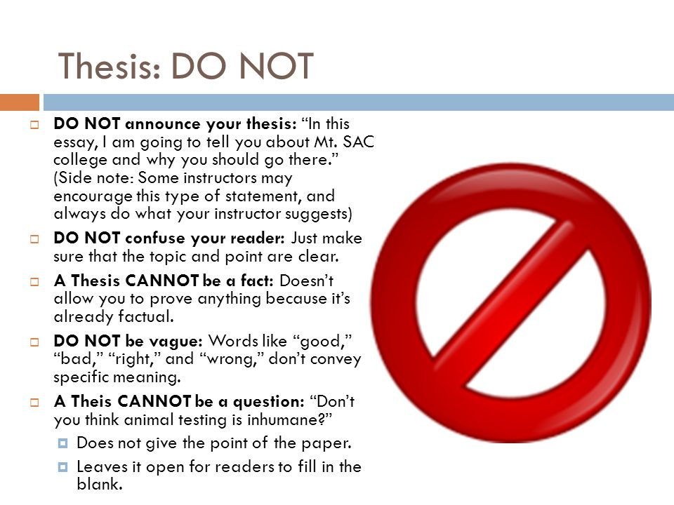 does a thesis have to prove something Does your conclusion restate your thesis but also sum up the main points of your previous paragraphs does it leave the reader with that something extra that conclusions require if not, try to rewrite it here:.