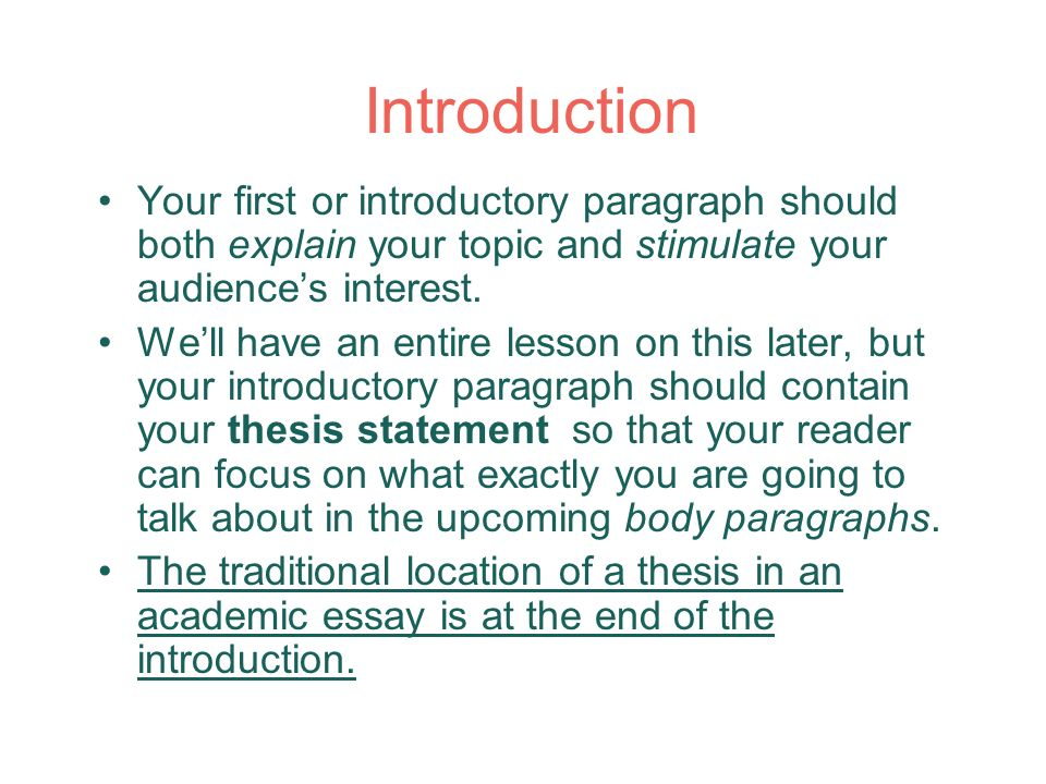 introduction with thesis statement essay Techniques for developing synthesis essays thesis statements, introductions, conclusions, and quotations the thesis of an argumentative essay is debatable.