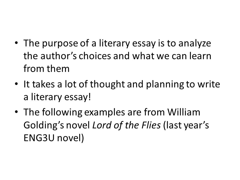 the author's purpose essay example For example:  o reflective essays or personal pieces are written in a less formal  matter, with a  do the style and wording help or hinder the author's purpose.