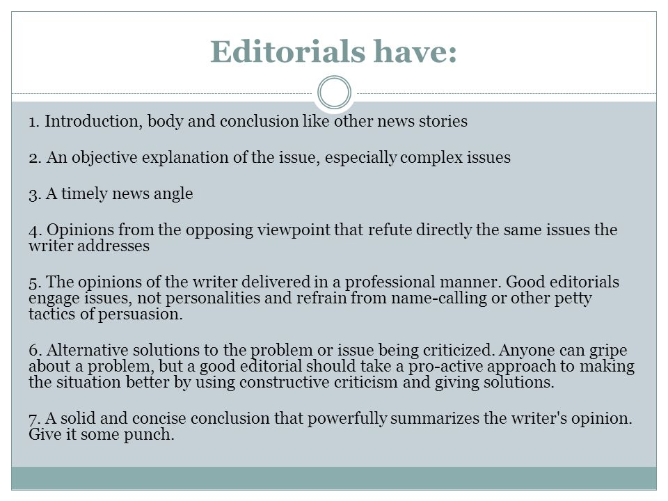 Area featured How To Write A Editorial and
