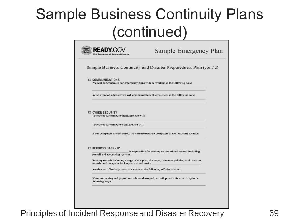 sample business continuity plan Business continuity plan (confidential)--not for external distribution departmental business continuity plan revision no: revision date: for questions or details on this plan, please contact the departmental continuity planner.