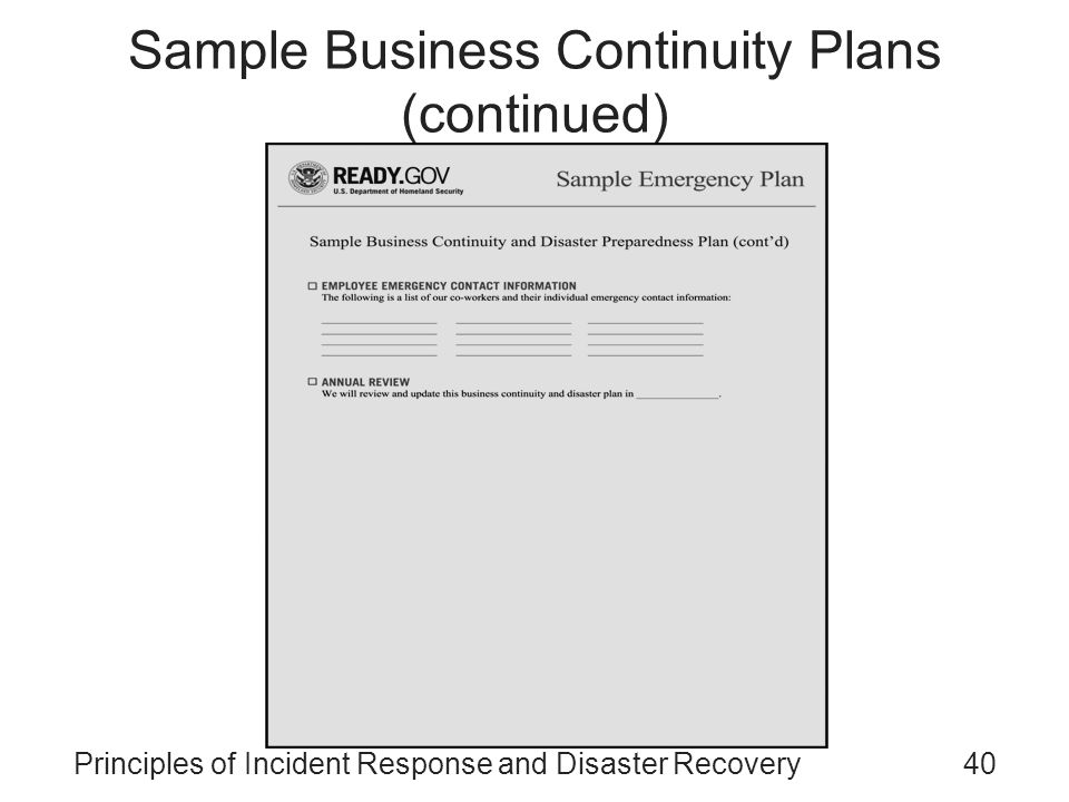 Principles Of Incident Response And Disaster Recovery - Ppt Video
