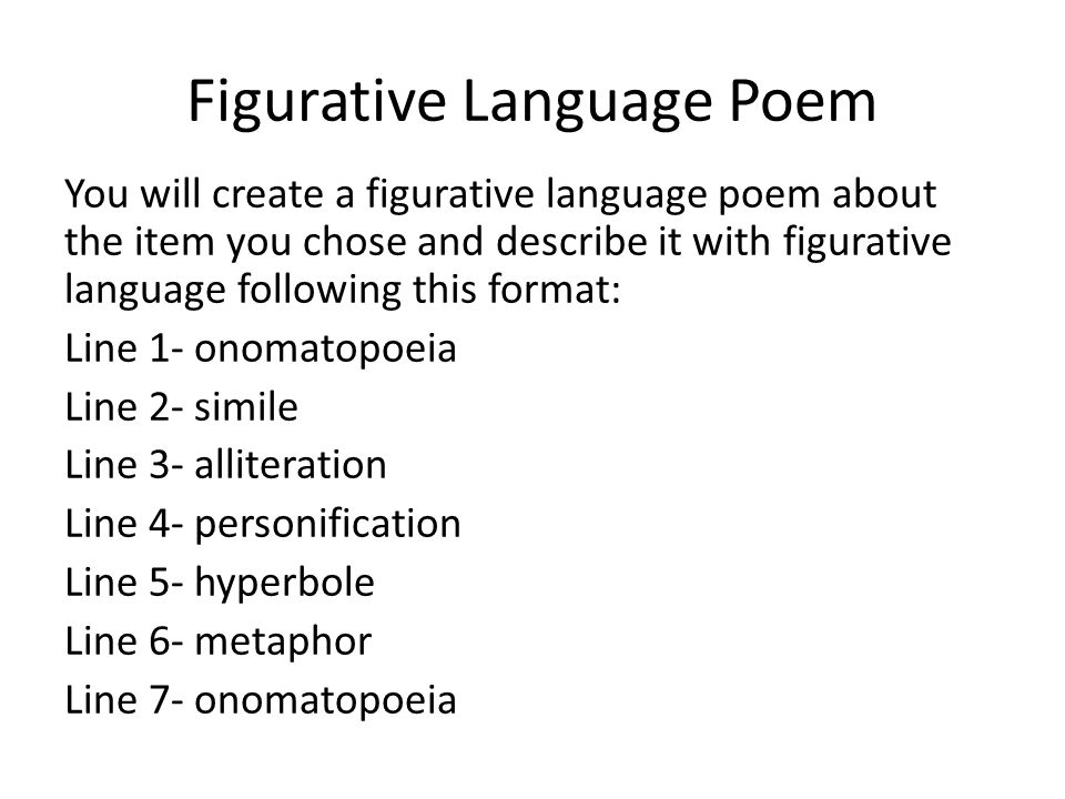 FIGURATIVE POEMS