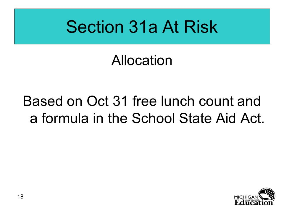 Section 31a At Risk Allocation