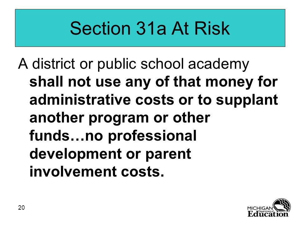 Section 31a At Risk