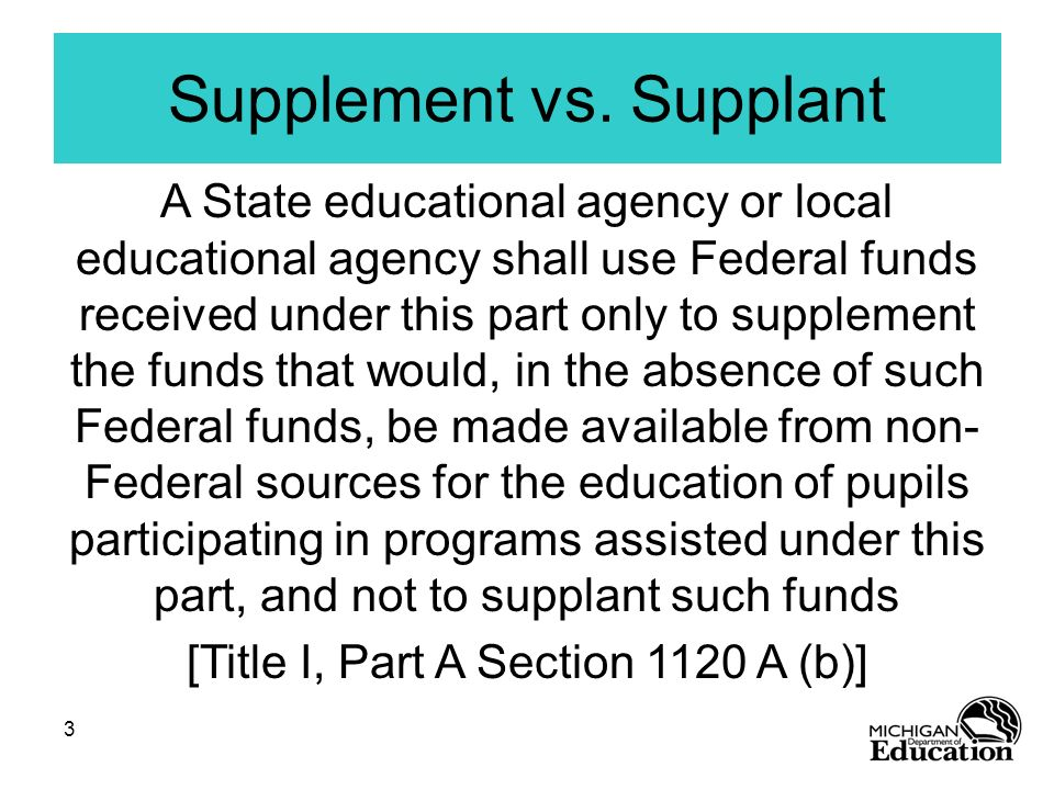 Supplement vs. Supplant