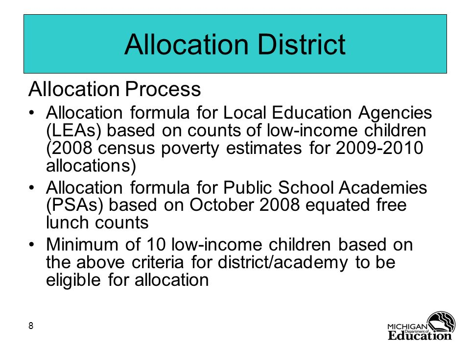 Allocation District Allocation Process