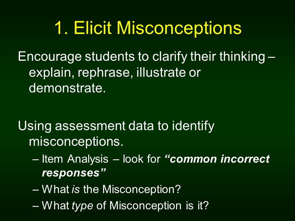1. Elicit Misconceptions
