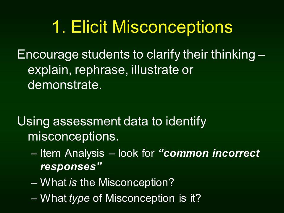 1. Elicit Misconceptions