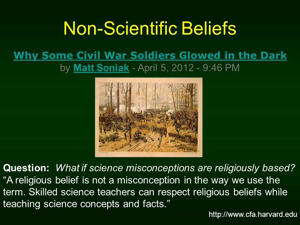 Non-Scientific Beliefs
