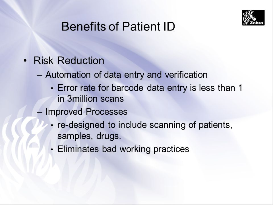 Benefits of Patient ID Risk Reduction