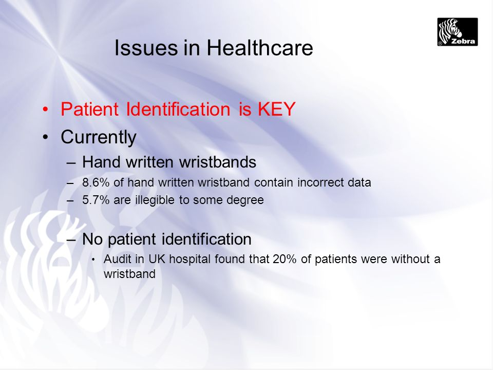 Issues in Healthcare Patient Identification is KEY Currently