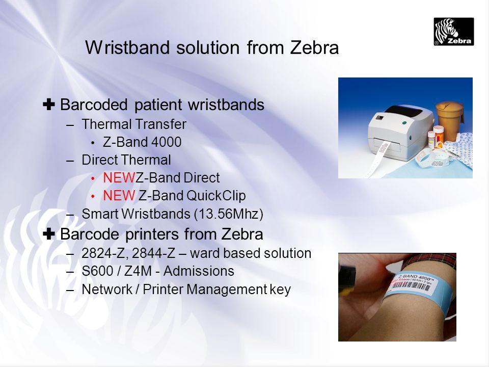 Wristband solution from Zebra