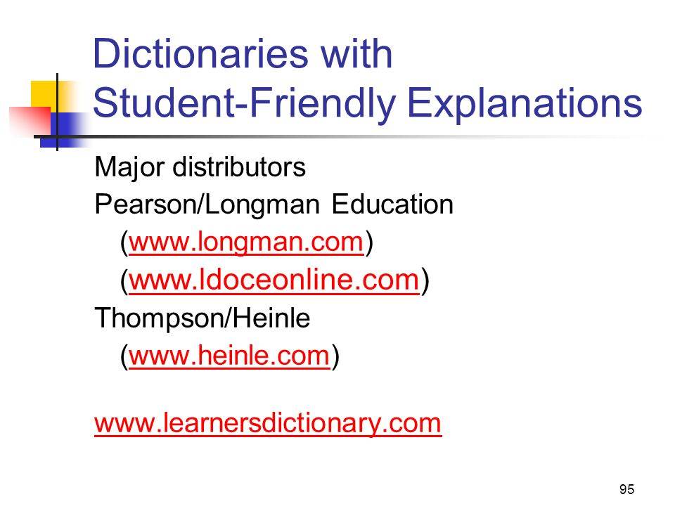 Dictionaries with Student-Friendly Explanations