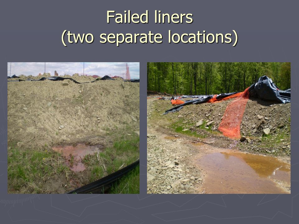 Failed liners (two separate locations)