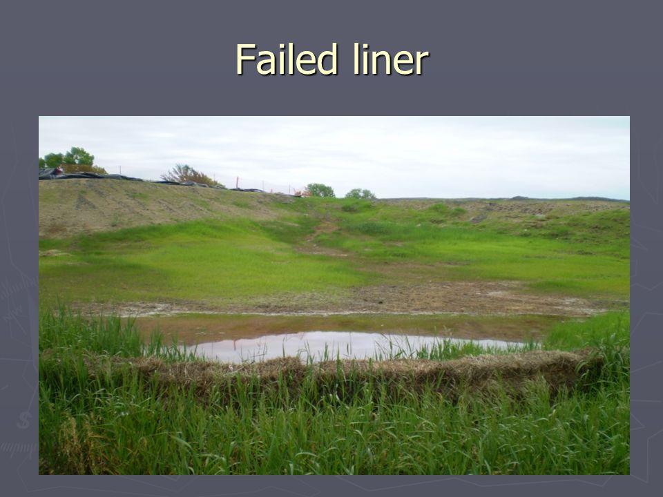 Failed liner