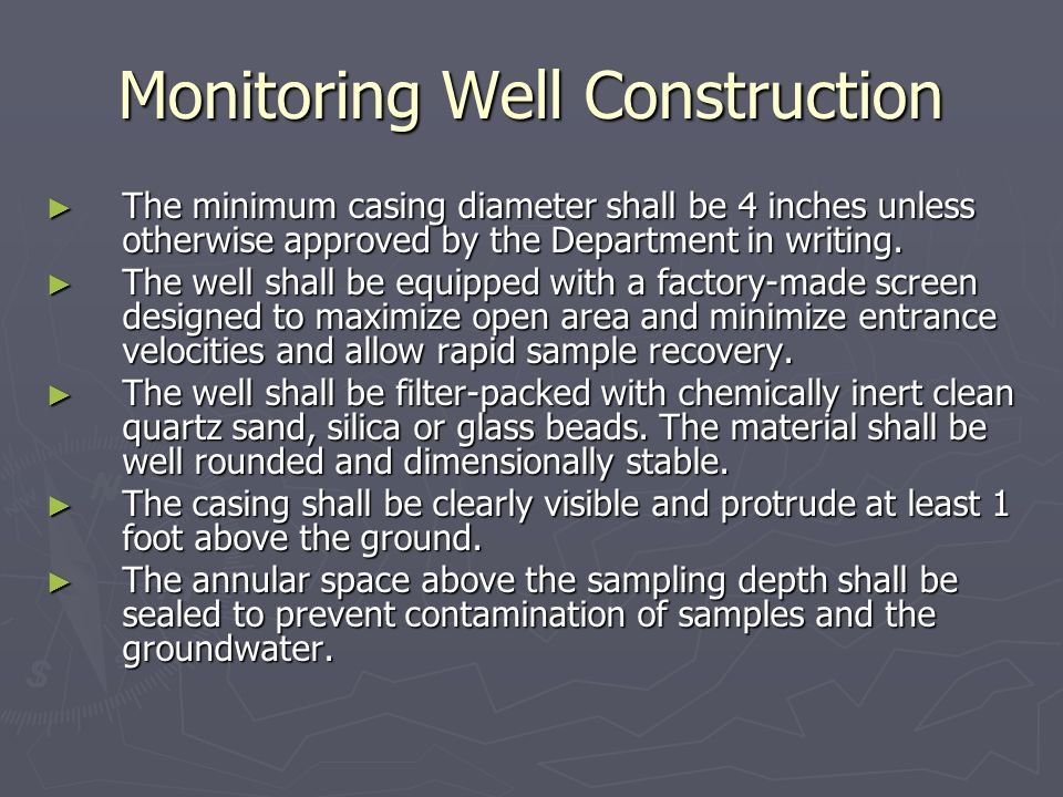 Monitoring Well Construction