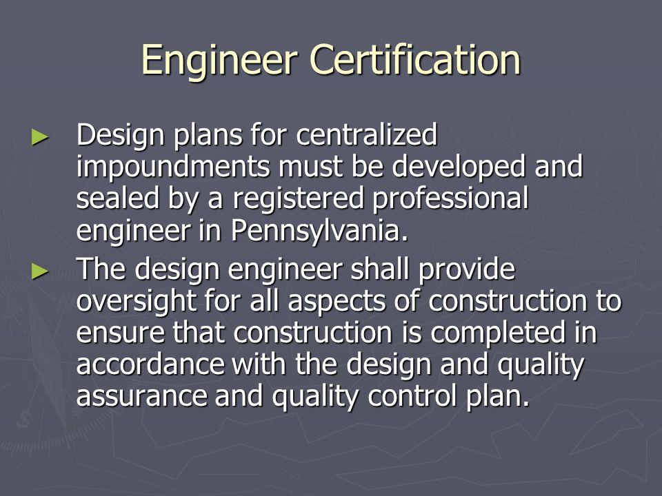 Engineer Certification