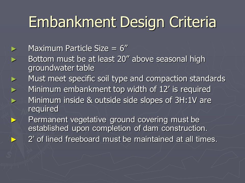 Embankment Design Criteria