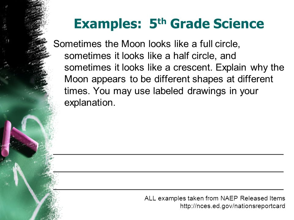 Examples: 5th Grade Science